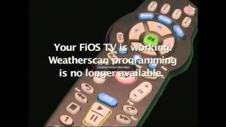 Verizon FiOS dropped The Weather Channel & Weatherscan