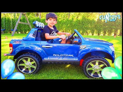 Thumbnail: Kids Outside Playing and Driving in Car Activities and Learn Colors with Balloons and Surprise Eggs