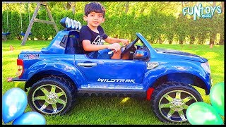 Kids Outside Playing and Driving in Car