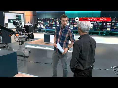 Phillip's 24 Hour Live TV Marathon - Vist to ITV News complex with Mary Nightengale... 1st Dec 2014