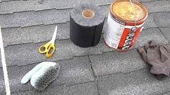 How to repair a leaky asphalt shingle roof