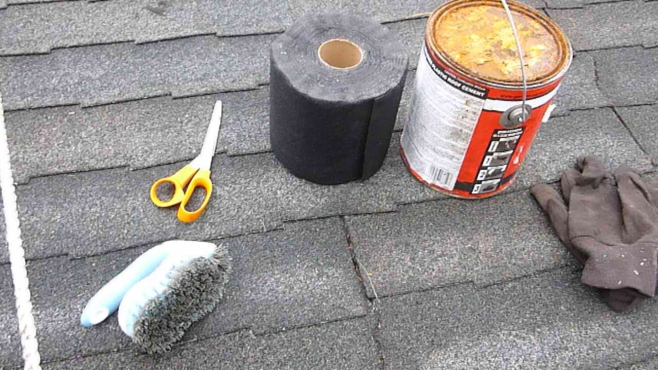 Leaking Roof Repair how to repair a leaky asphalt shingle roof - youtube