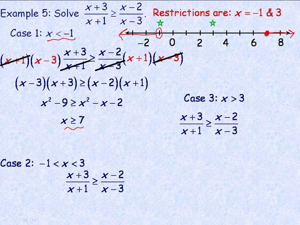 Solving Rational Equations and Inequalities Part 3 - YouTube