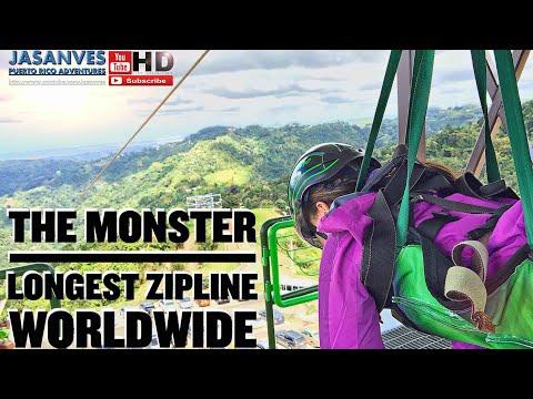 El Zipline mas largo del Mundo hubicado en Puerto Rico y Certificado por Records Guinness