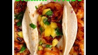 Shrimp Tacos with Korean Gochujang & Mango Salsa