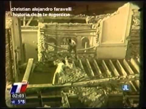 HISTORIA DE TELEVISIÓN ARGENTINA: DEMOLICION DEL PALACIO UNZUÉ DONDE MUERE EVITA / 2012
