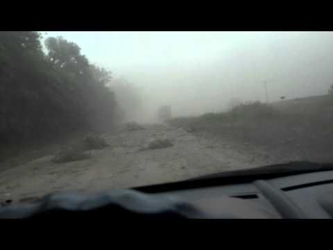 Despues del tornado. Ruta 1. Arrecifes