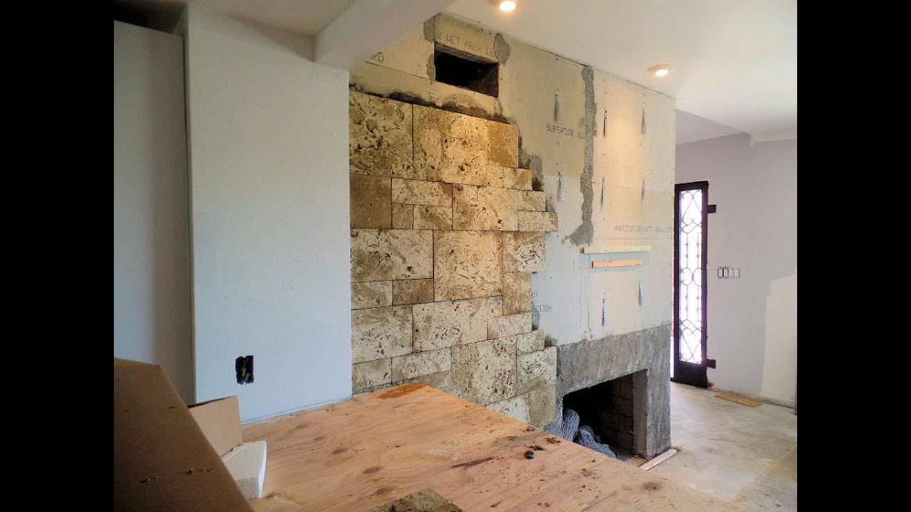 covering a fireplace with stone veneer eldorado stone youtube