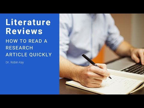 How to Read a Research Article Quickly
