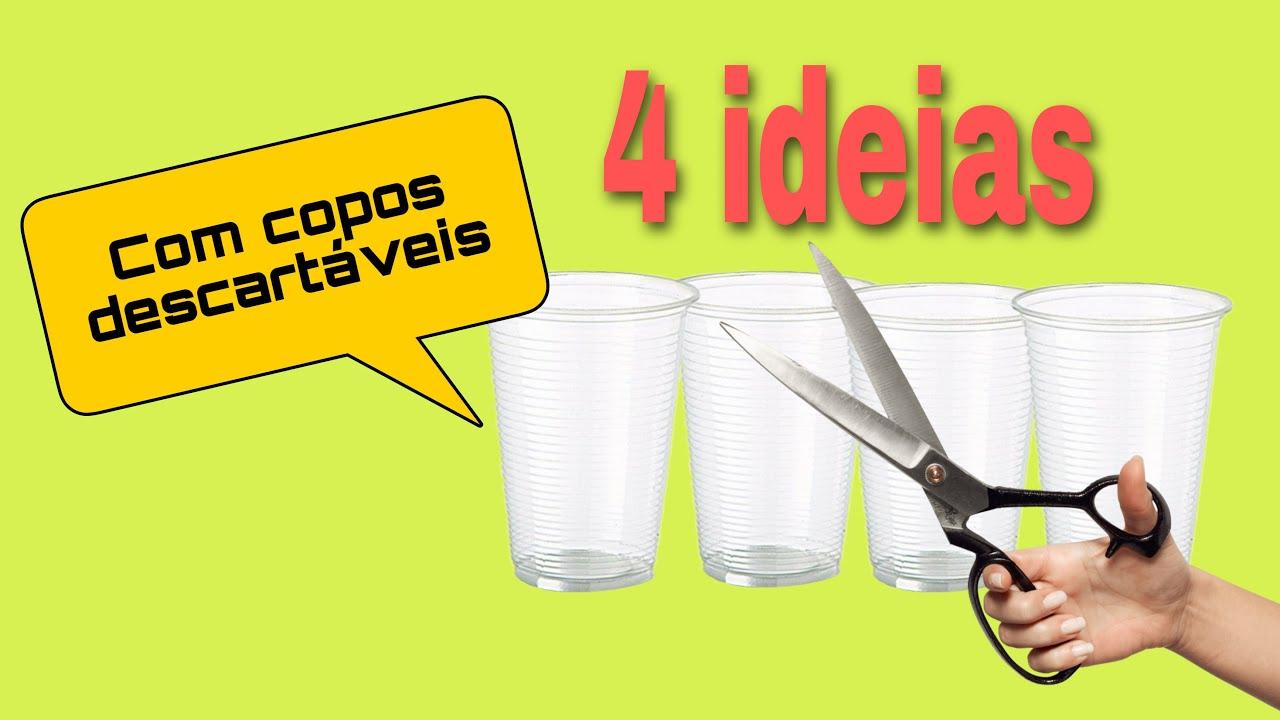 DIY FESTA/ 4 ideias de lembrancinhas com copos descartáveis