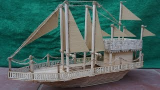How to Make Popsicle Stick Ship   Amazing ship