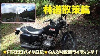 のんびりライディング!脊振山系林道散策篇【★FTR223バイク日記★】