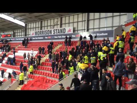 Millwall FC fans at Rotherham United away!