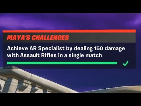 Achieve AR Specialist By Dealing 250 Damage With Assault Rifles In A Single Match Fortnite