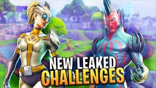 'NOUVEAU' SEASON BATTLEPASS LEAKED CHALLENGES (SEMAINE 6) - Fortnite: Battle Royale