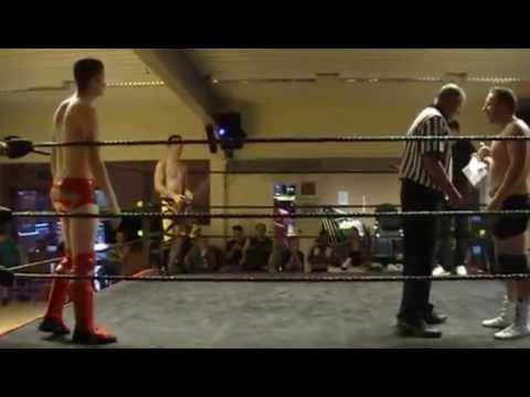 "Stephen Docherty vs ""Lightning"" Lewis Howley vs Mark Hendry Dropkixx Cruiserweight Championship"