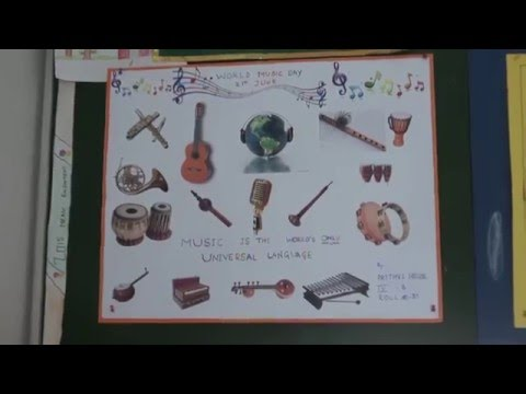 School project about World Music Day