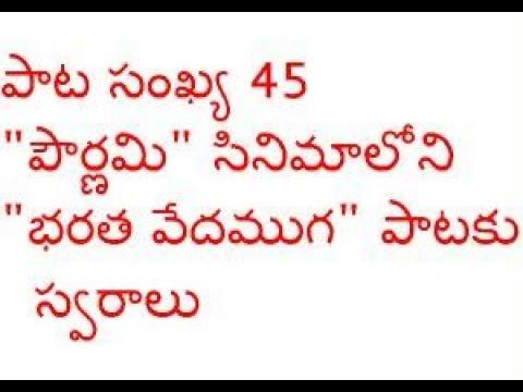Sreekaanth Ch Giving Notes For Bharatha Vedamuga Old Telugu Song