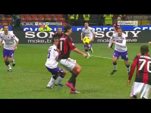 AC Milan Vs Fiorentina 1-0 2010 [Zlatan Ibrahimovic Goal In HD]