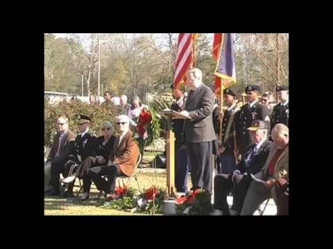 Osyka Veterans park Wreath Ceremony HD 720p