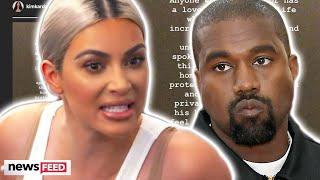Kim Kardashian RESPONDS To Kanye West's Twitter Tirade After 'Divorce' Comment