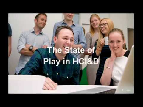 The State of Play in HCI | Leslie Fountain | HCID Open Day 2016