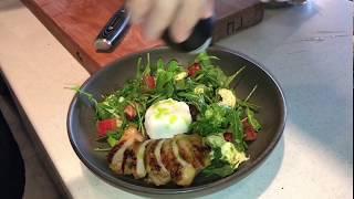 Рецепт салата с рукколой, курицей и моцареллой