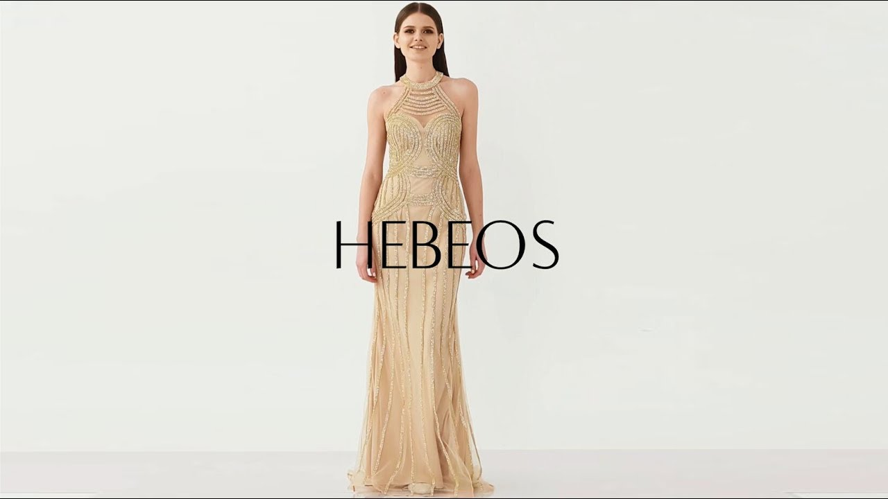 Long Gold Stripe Formal Dress By Hebeos Youtube