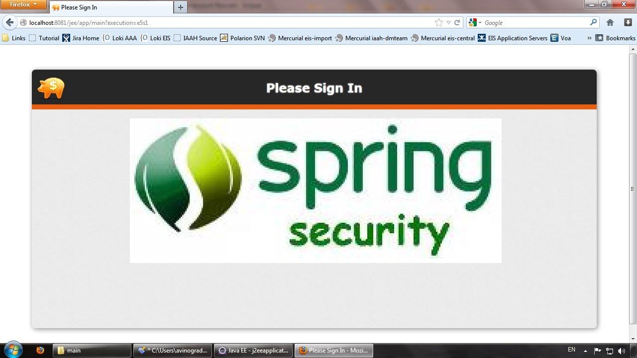 Java ee j2ee tutorial for beginners part16 configuring spring java ee j2ee tutorial for beginners part16 configuring spring security to secure web flow baditri Gallery
