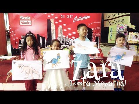 Zara Mengisi Liburan Dengan Ikutan Lomba Mewarnai Di Mall 😘 Kuliner Dan Berkompetisi Di Mall