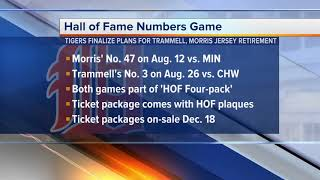 Tigers set dates for Morris, Trammell jersey retirements