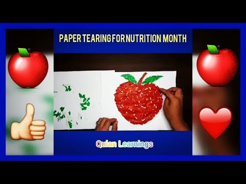 Paper Tearing Idea for Nutrition Month I DIY Kids Fun Activities