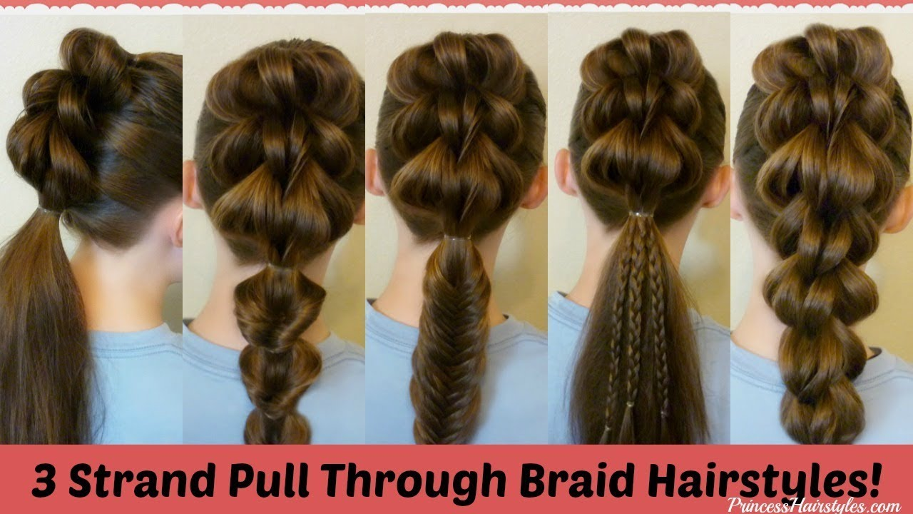 3 strand pull through braid and 5 ways to wear it!