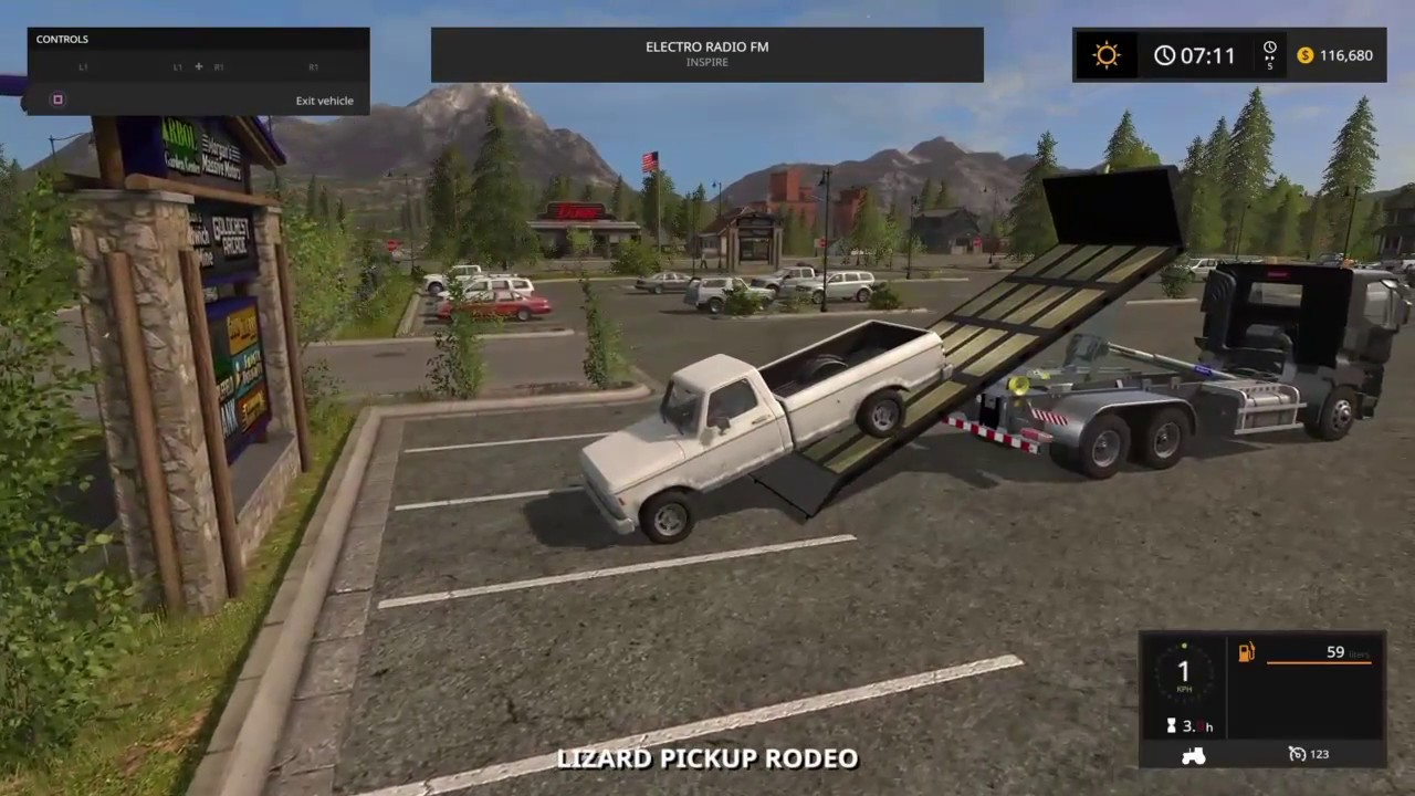 New MOD in Farming simulator 2017 PS4/XB1 flatbed tow truck?
