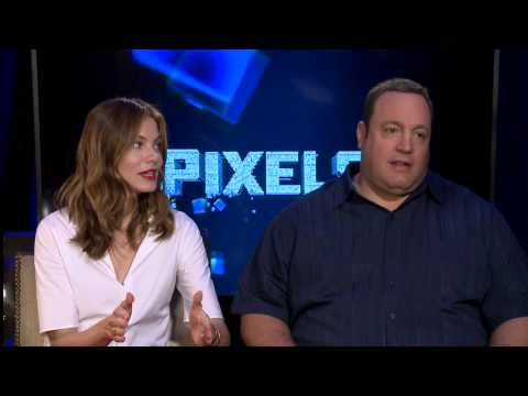 Pixels: Michelle Monaghan & Kevin James on Director Chris Columbus