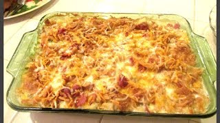 Cacerola De Papa Con Tocino/ Potato Casserole With Bacon