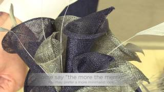 How to make a fascinator - Lily Kit Instructions