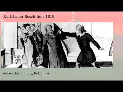 Karlsbader Beschlüsse 1819 einfach erklärt - lernen-mit-raven.de