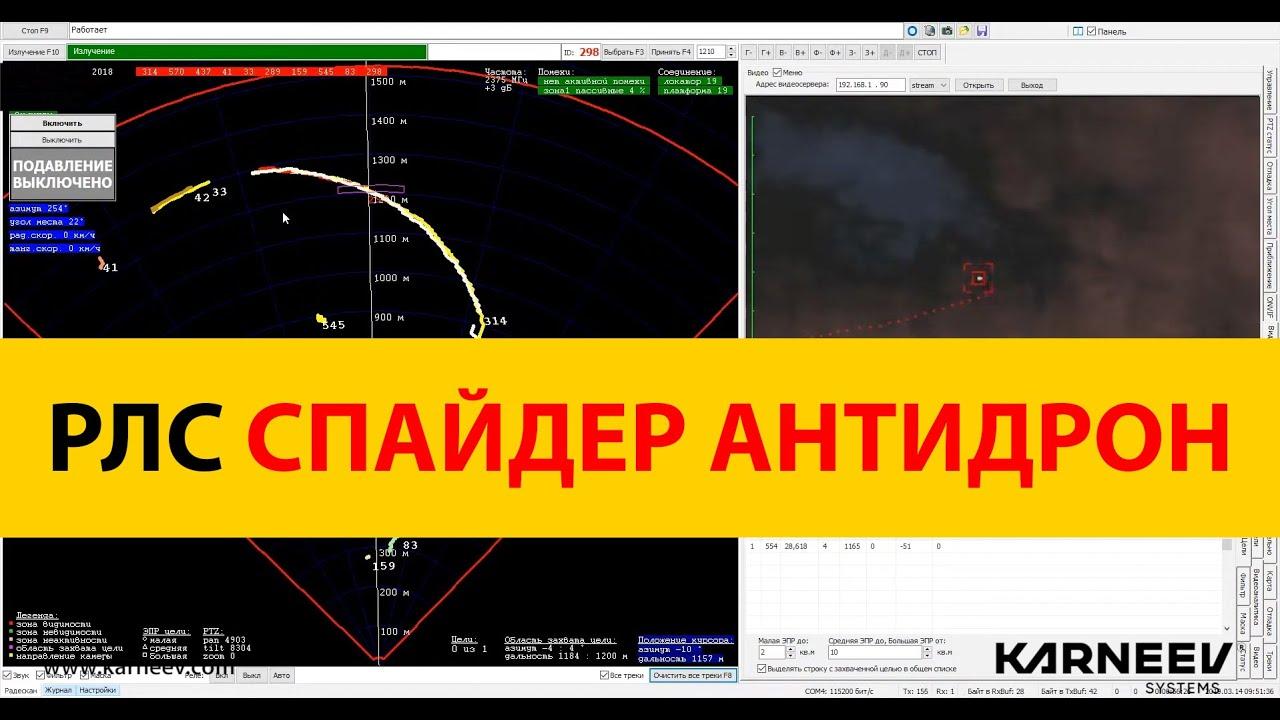 РЛС KARNEEV АНТИДРОН обнаружение БПЛА самолетного типа