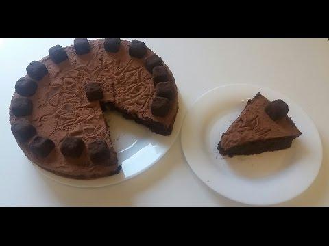 ТРЮФЕЛЬНЫЙ ТОРТ торт без муки,тает во рту и для любителей шоколада это то,что надо☺🍫
