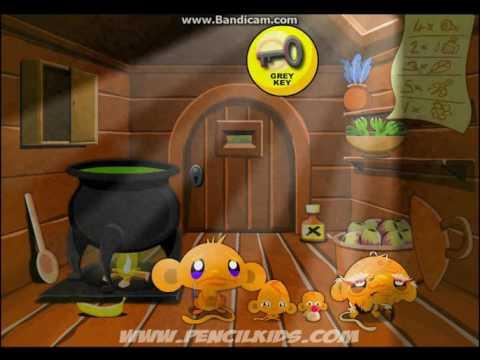 Развивающая игра для детей 7-10 лет СЧАСТЛИВЫЕ ОБЕЗЬЯНКИ часть № 4.