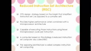 Understand Reduced Instruction Set Computer (RISC)