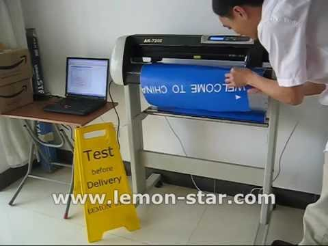 how to use schneideplotter cutting plotter machine lettering vinyl