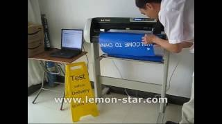 How to use Schneideplotter cutting plotter machine lettering vinyl sticker usb -AK720E كتر بلوتر