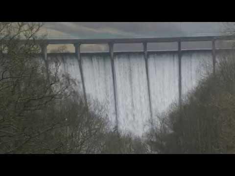Cascading Water Dam Castlehill Reservoir Glen Devon Perthshire Scotland