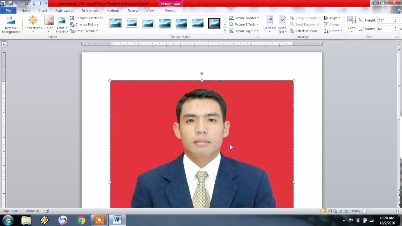 Cara Mencetak Foto Ukuran 3x4 Dan Ukuran 4x6 Dengan Ms Word Youtube