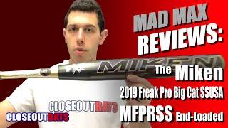 2019 Miken Freak Pro 14 Inch Big Cat Endloaded Senior Softball Bat MFPRSS