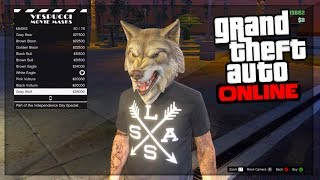 GTA 5 DLC: NEW Independence Day DLC Masks - New Animals Masks!(, 2014-07-01T19:44:03.000Z)