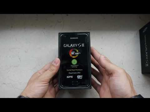 Samsung Galaxy S2 Unboxing / ausgepackt - German