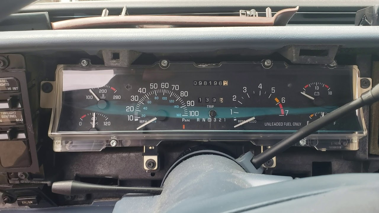 How To Remove The Sdometer On A 1997 Buick Lesabre